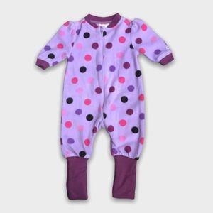 4/$20🥳 Purple Fleece Polka Dot Sleeper